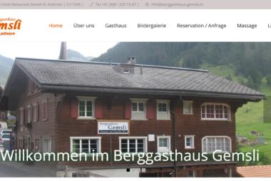 Berggasthaus Gemsli in St. Antönien, Graubünden - Onlinemarketing by lionfish16 SEO Webpublishing